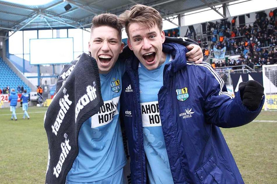 Die Männer des Spiels: Tom Baumgart (l.) und Florian Hansch schossen den CFC zum Sieg.