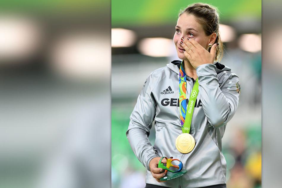 Kristina Vogel bei den Olympischen Spielen in Rio de Janeiro, wo sie Gold im Sprint gewann. (Archivbild)