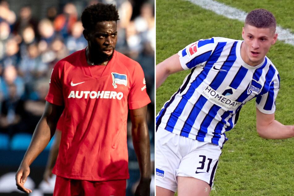 Hertha BSC muss die nächsten Wochen auf Jordan Torunarigha (24/l.) verzichten. Hinter Marton Dardai (19) steht noch ein Fragezeichen. (Bildmontage)
