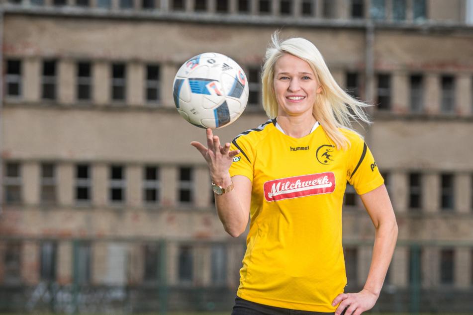 Abwehrspielerin Kathleen Freude (33) vom FFC Fortuna Dresden hofft auf wenigstens einen Treffer.