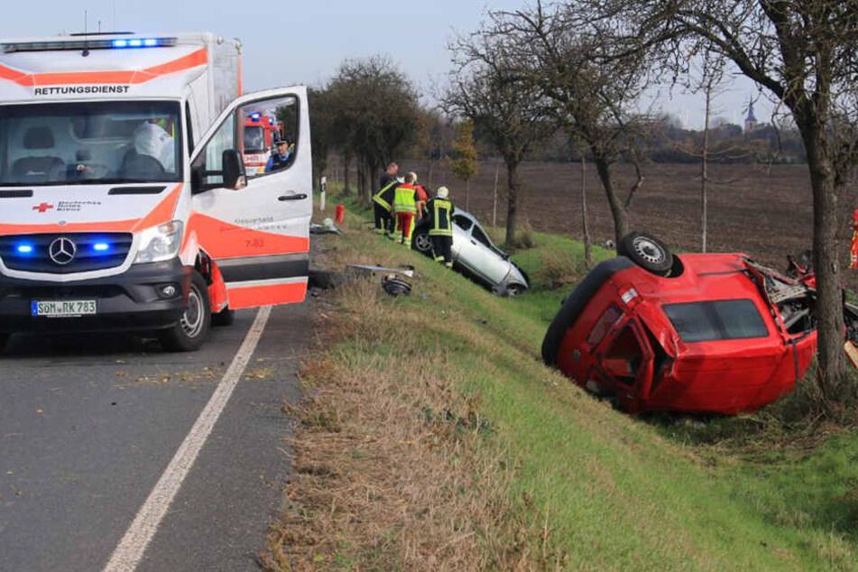 Horrorcrash! Frau stirbt bei heftigem Unfall in Thüringen