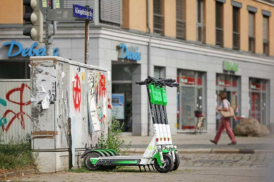 Bereits jetzt gibt es Hunderte Roller in Dresden, doch das ist erst der Anfang.