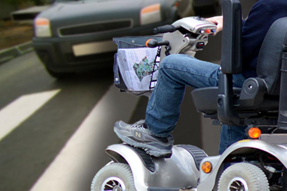 Der 85-Jährige wollte mit seinem Elektro-Rollstuhl einen Zebrastreifen überqueren. (Symbolbild)