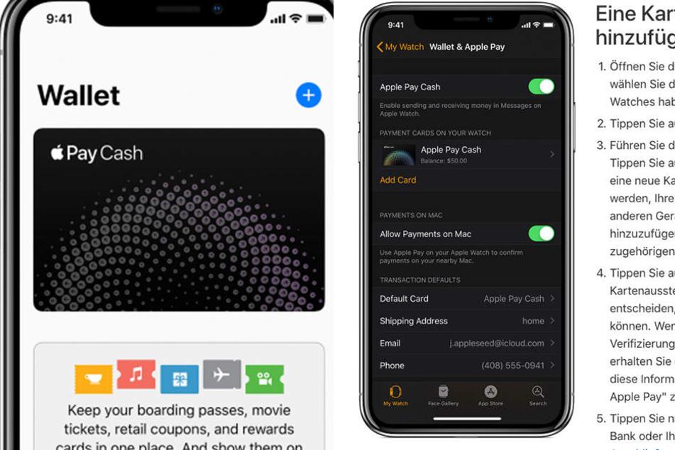 Hier wird bei Apple angezeigt, wie die Integration der Karte funktioniert.
