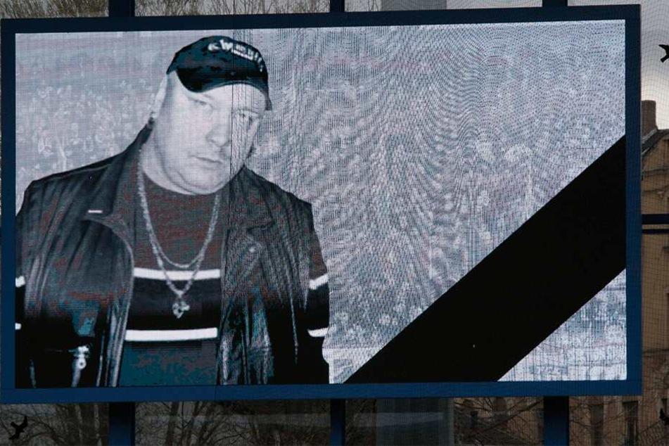 Dieses Foto von Thomas Haller (†53) erschien beim letzten CFC-Heimspiel auf der Leinwand.