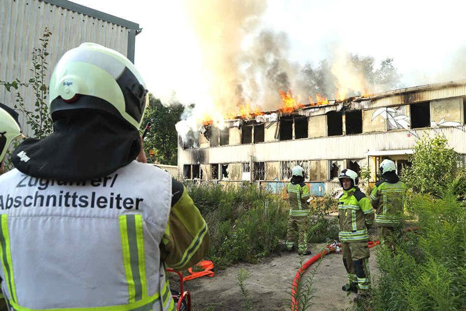 Der Barackenbrand vom 21. Juli war einer der größten für die Dresdner Feuerwehr.