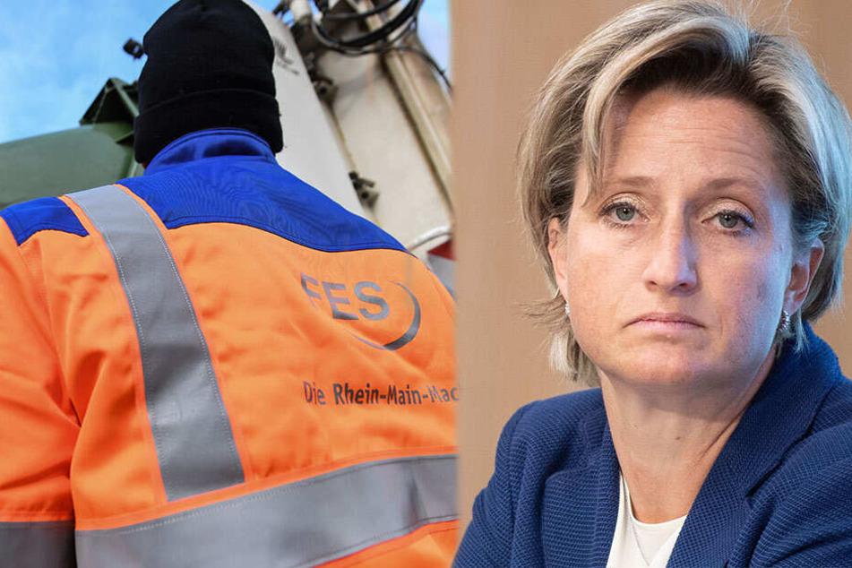 Macht Wirtschaftsministerin Nicole Hoffmeister-Kraut (CDU) eine 12-Stunden-Schicht bei der Müllabfuhr mit? (Bildcollage)