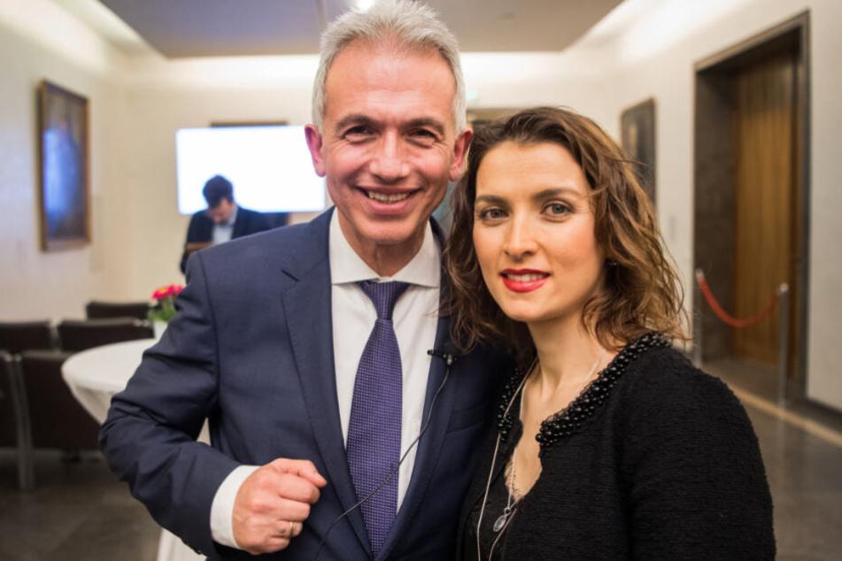 Peter Feldmann zusammen mit seiner Frau Zübeyde.