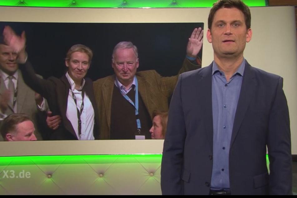 """Wie weit darf Satire gehen? Christian Ehring nannte die AfD-Spitzenkandidatin """"Nazi-Schlampe""""."""