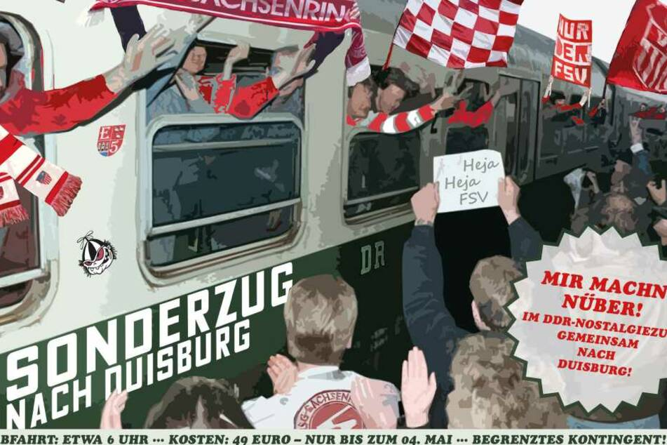 Mit diesem Flyer wirbt der FSV für die Nostalgiefahrt am 20. Mai.