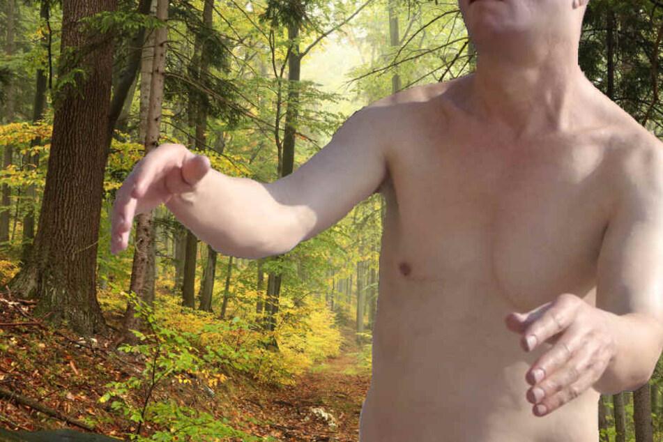 Der Mann war komplett nackt im Wald unterwegs. (Symbolbild)