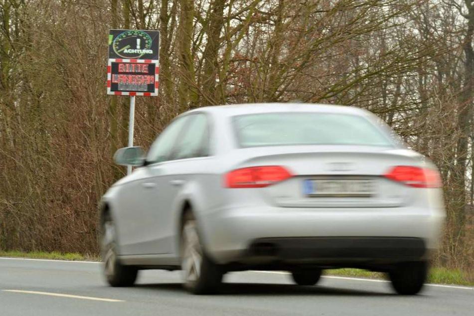 Der Audi-Fahrer war mit 104 km/h deutlich zu schnell unterwegs.
