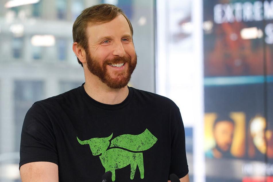 Ethan Brown, Vorstandsvorsitzender von Beyond Meat, am Tag des Börsengangs von Beyond Meat (2. Mai 2019) an der New Yorker Nasdaq.
