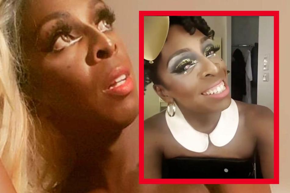 Im schwarzen Abendkleid wandte sich Kelly Heelton per Video an ihre Follower (Bild im roten Kasten).