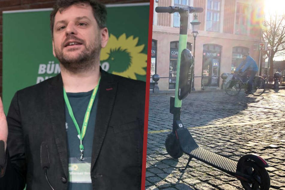 Die Grünen wollen Elektro-Roller nicht auf Gehwegen zulassen!