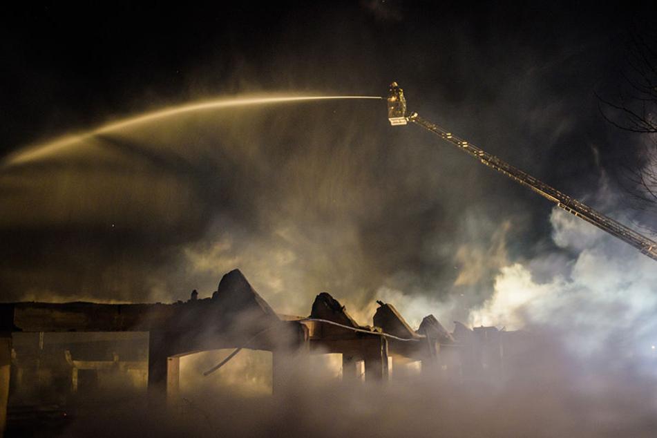 Die historische Viehauktionshalle brannte damals vollkommen aus.