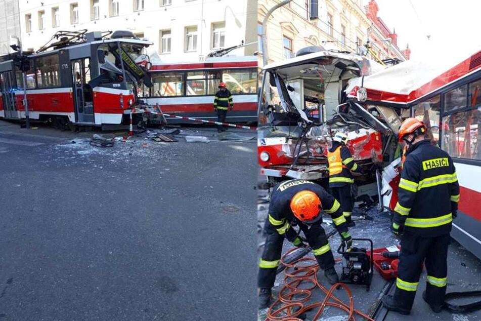 Linienbus kracht frontal in Straßenbahn: 40 Verletzte, davon 12 schwer