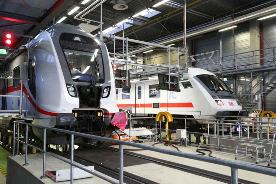 Im Leipziger ICE-Werk werden die Vorbereitungen auf den Winter getroffen.