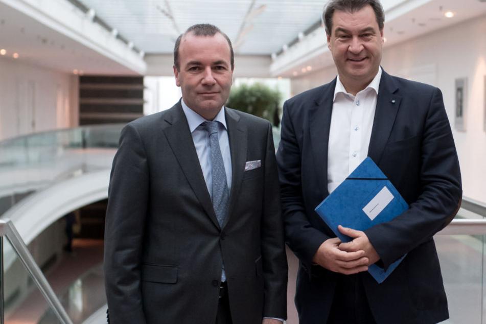Landtagswahl in Bayern: Söder und Weber warnen vor Gefahr für Europa