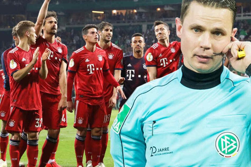 Robert Kampka (r., Archivbild) hatte den falschen Elfmeterpfiff nicht korrigiert und so den Bayern zum Sieg verholfen.
