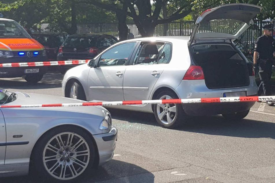 In diesem Auto wurde das Opfer erschossen.