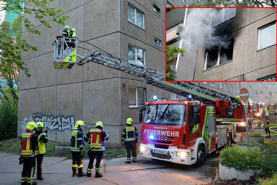 Chemnitz: Feuer in Wohnhaus, Bewohner evakuiert
