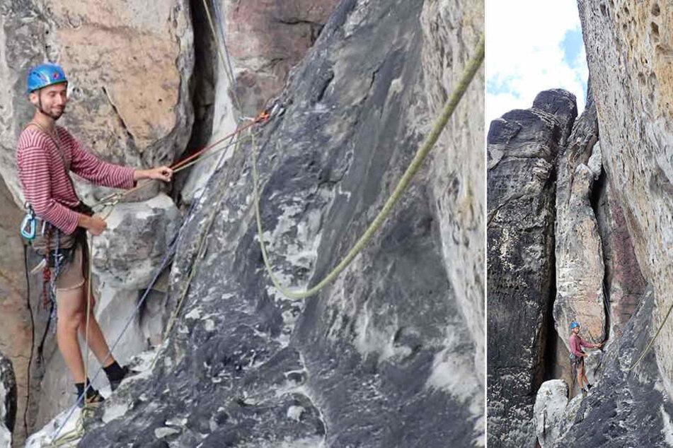 Nachdem sich eine acht Meter hohe Säule am Gipfel der Steinschleuder verschoben hatte, wurde das Klettern dort untersagt
