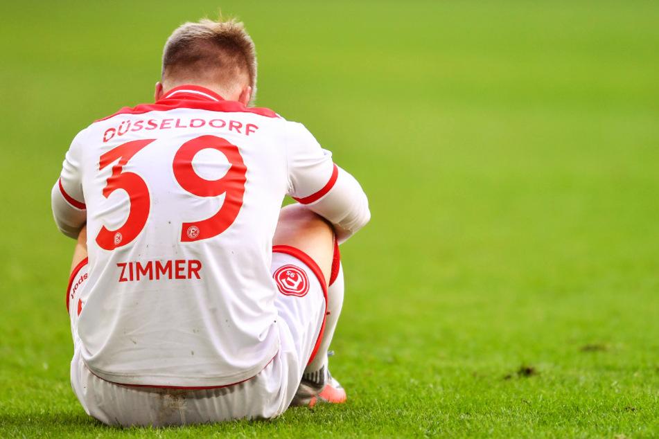 Fortuna Düsseldorf um Jean Zimmer muss in den nächsten zwei Spielen gegen den BVB und RB Leipzig antreten.