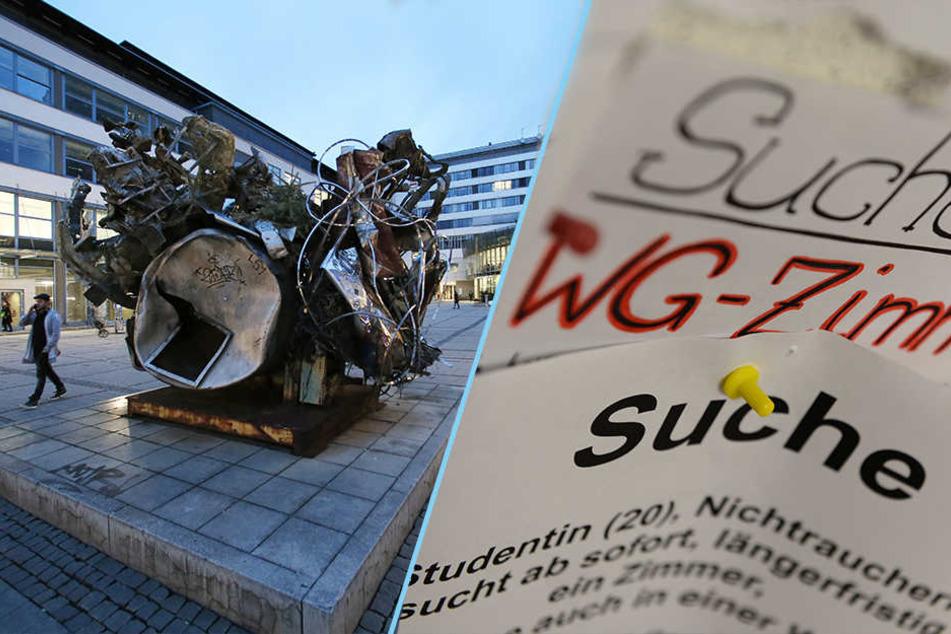 Wohnen am Campus (F.l.: Schiller-Universität Jena) ist nicht mehr so gefragt. Studenten leben lieber in WGs.