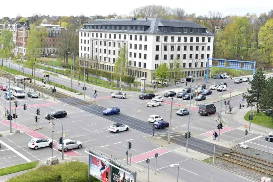 Die Kreuzung Reichsstraße/ Zwickauer Straße ist ein Unfallschwerpunkt in Chemnitz.