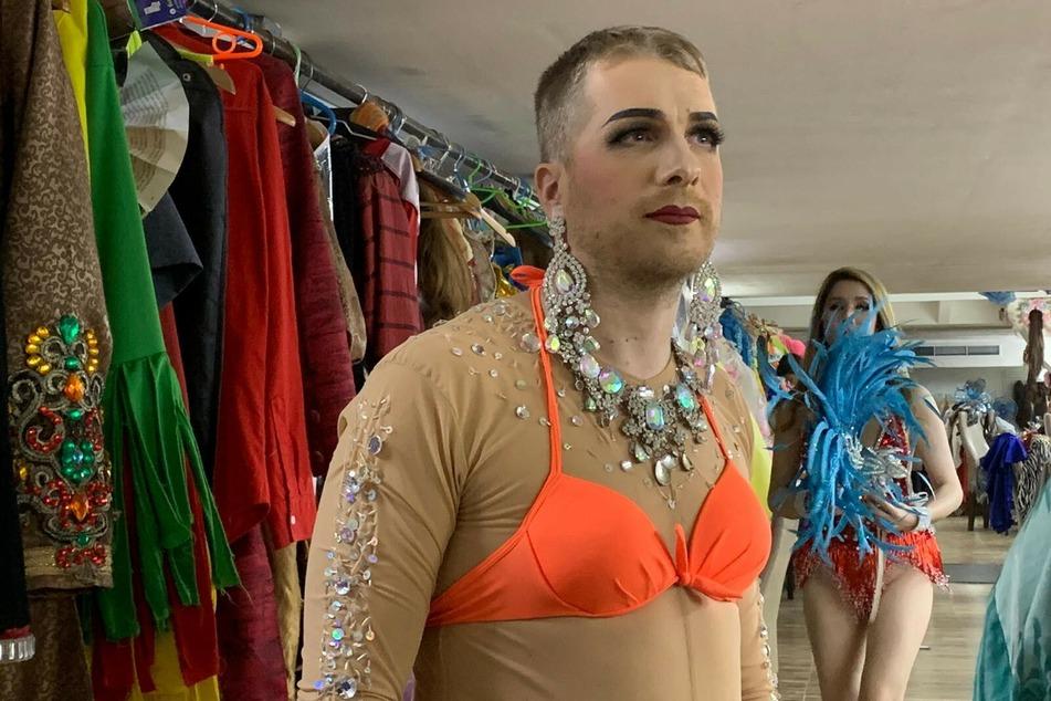 Oliver Pocher (42) im Travestie-Kostüm.