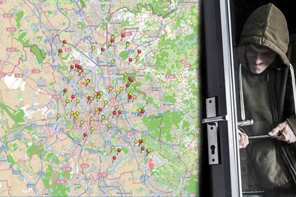Die Polizei Köln hat das erste Einbrecher-Radar des Jahres 2018 veröffentlicht.
