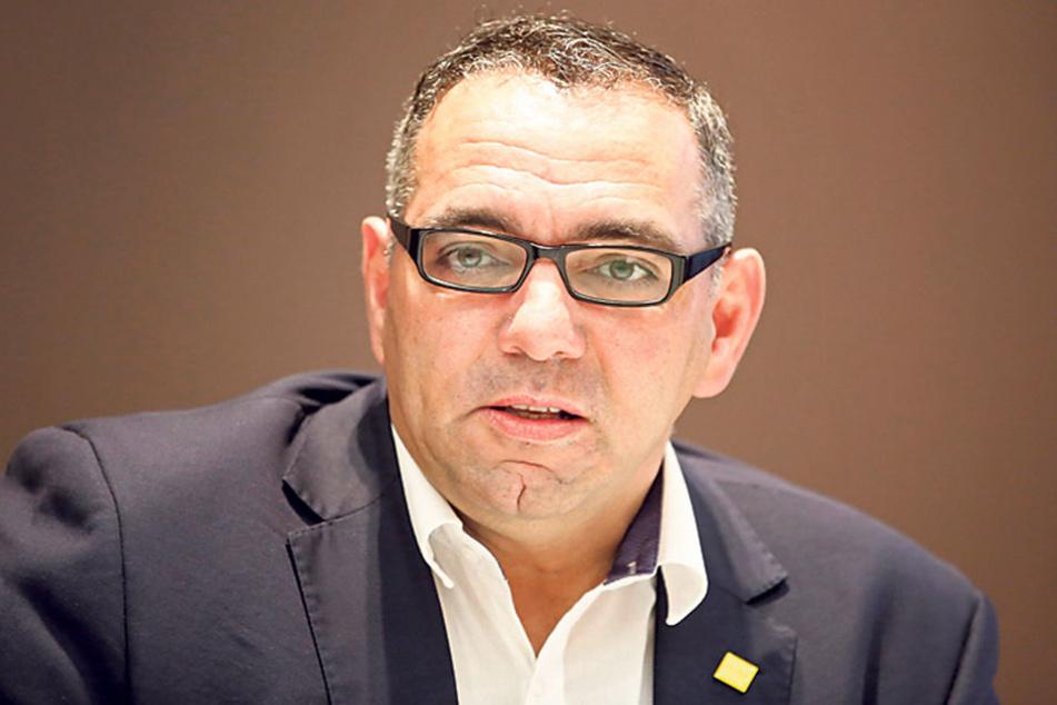Johannes Lohmeyer (52), Vorsitzender des Tourismusverbandes Dresden, sorgt  sich um Dresdens Hotellerie.