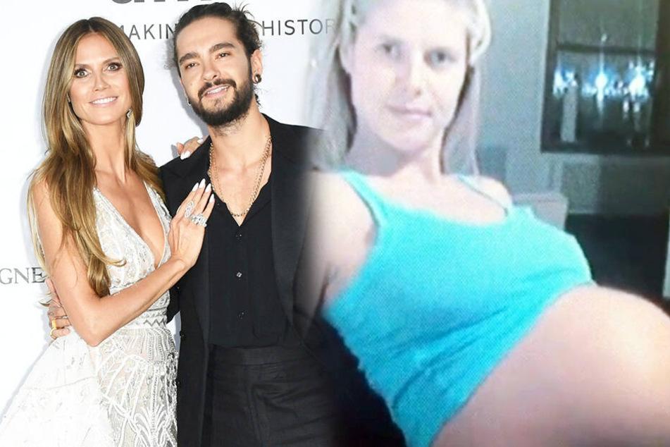 Rechts Heidi mit ihrem jetzigen Verlobten Tom Kaulitz , rechts hochschwanger mit Tochter Leni im Mai 2004.