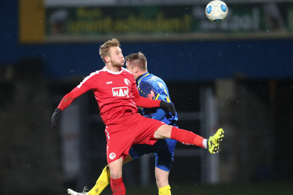 Am Sonntag beim Berliner AK setzte es auch aufgrund dreier Tore von Ex-Spieler Felix Brügmann (hier im Hinspiel) für Lok eine 2:5-Niederlage.