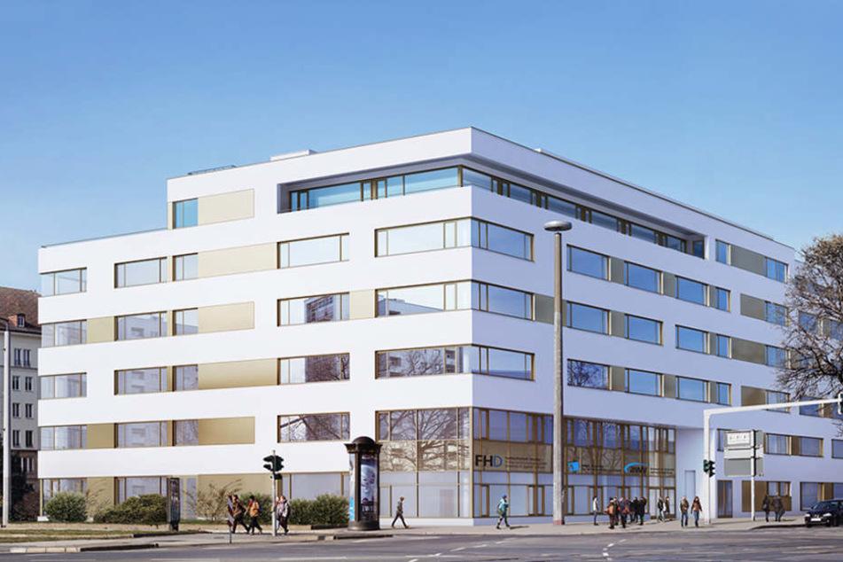 neuer campus der afbb am stra burger platz in dresden. Black Bedroom Furniture Sets. Home Design Ideas