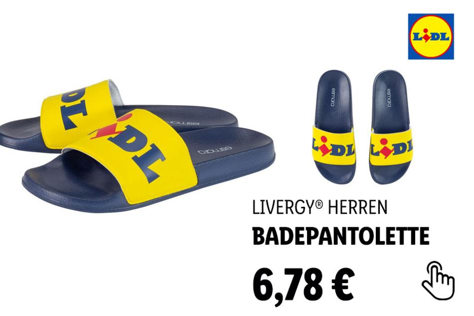 LIVERGY® Herren Lidl-Badepantolette