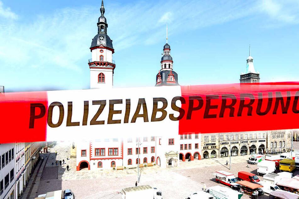 Das Areal am Chemnitzer Marktplatz wurde geräumt.