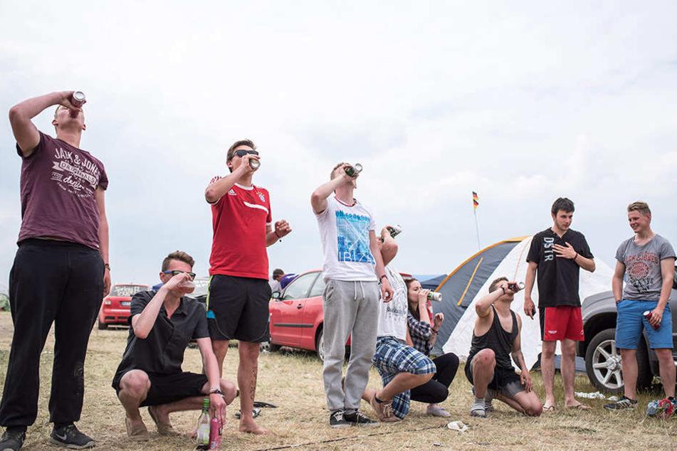 Eines der beliebtesten Festival-Trinkspiele: Flunkyball. Das Sputnik-Festival ist auch in diesem Jahr wieder überaus beliebt und bereits zum Festival-Start ausverkauft.