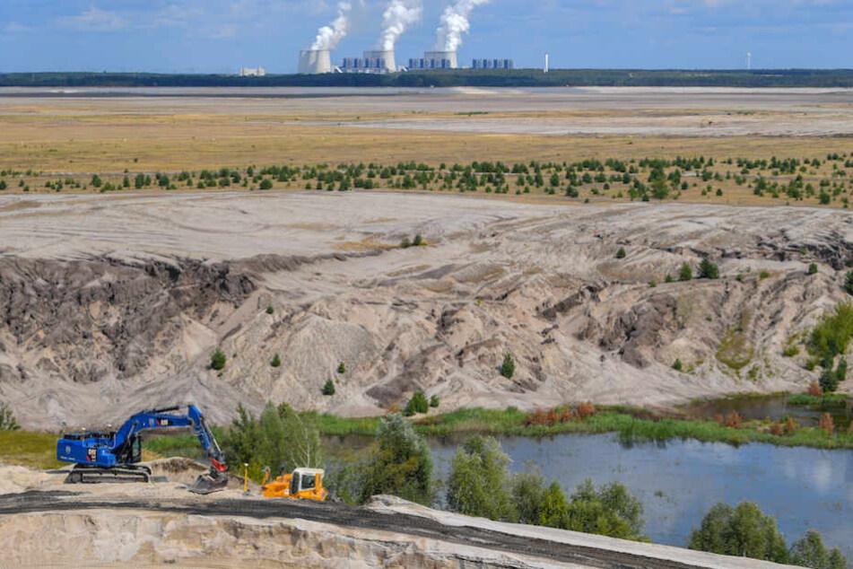 Es ist angerichtet: Fehlt eigentich nur noch das Wasser für den Cottbuser Ostsee.