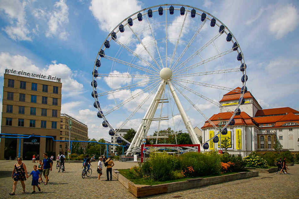 """Das """"Wheel of Vision"""" bleibt bis Mitte Oktober auf dem Postplatz."""