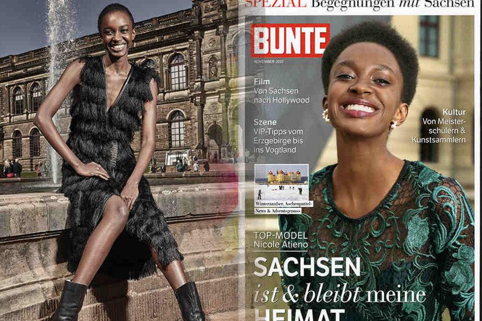 """Nicole Atieno (20) sagt unmissverständlich in """"Bunte"""": """"Sachsen ist und bleibt meine Heimat""""."""