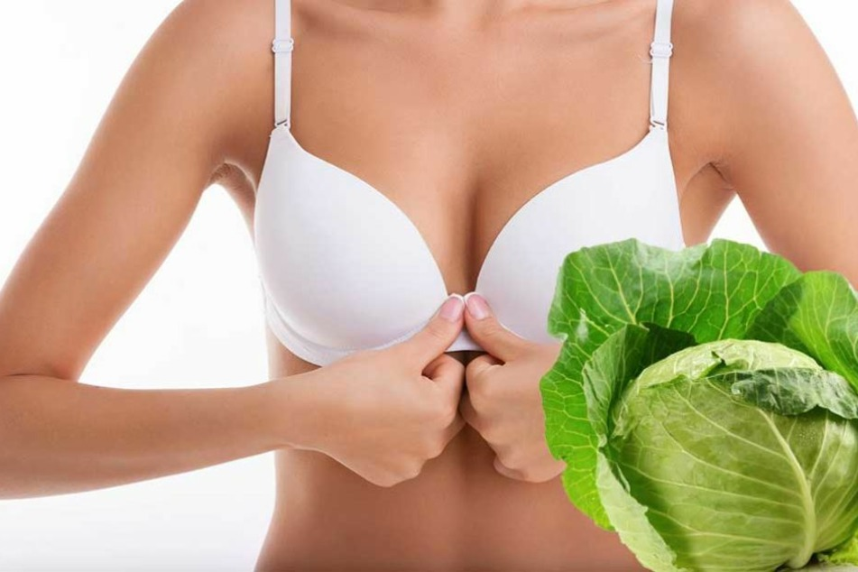 Gegen Schmerzen in der Brust hilft Kohl im BH.