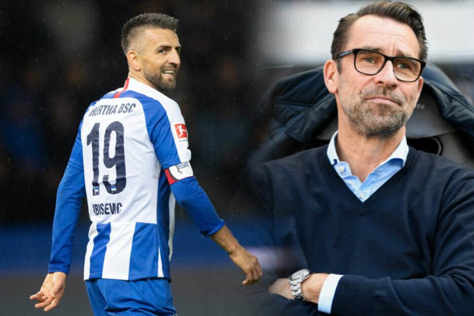 Hertha-Manager Michael Preetz warnt vor zu hohen Erwartungen. (Bildmontage)