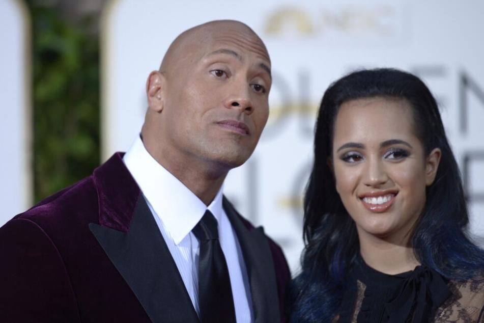 Dwayne Johnson mit seiner Tochter Simone.