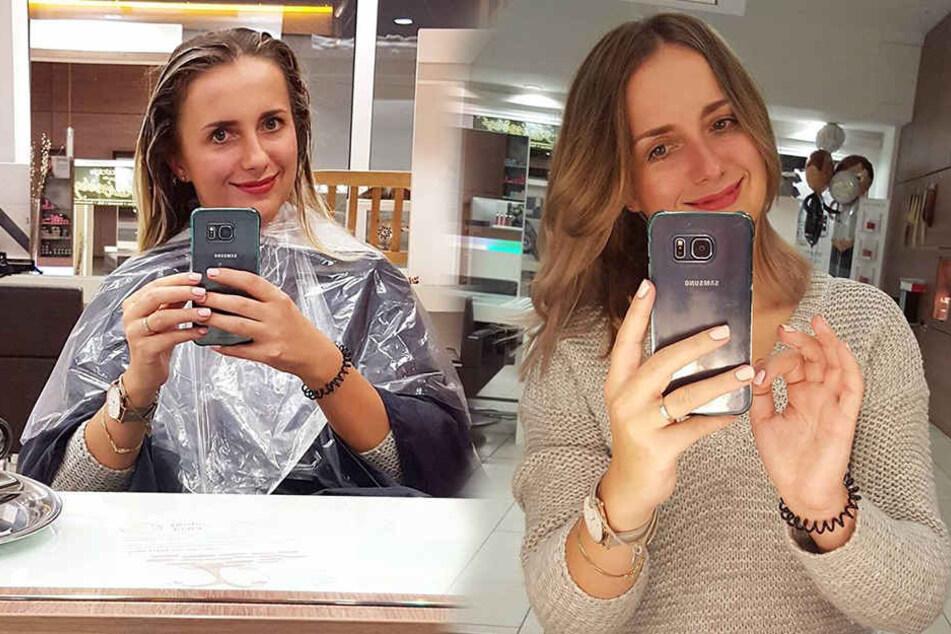 Anna war beim Friseur - und sieht (wie immer) toll aus.
