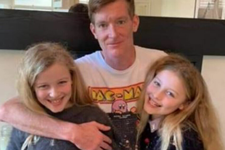 Paul und seine beiden Töchter Maya und Ruby.