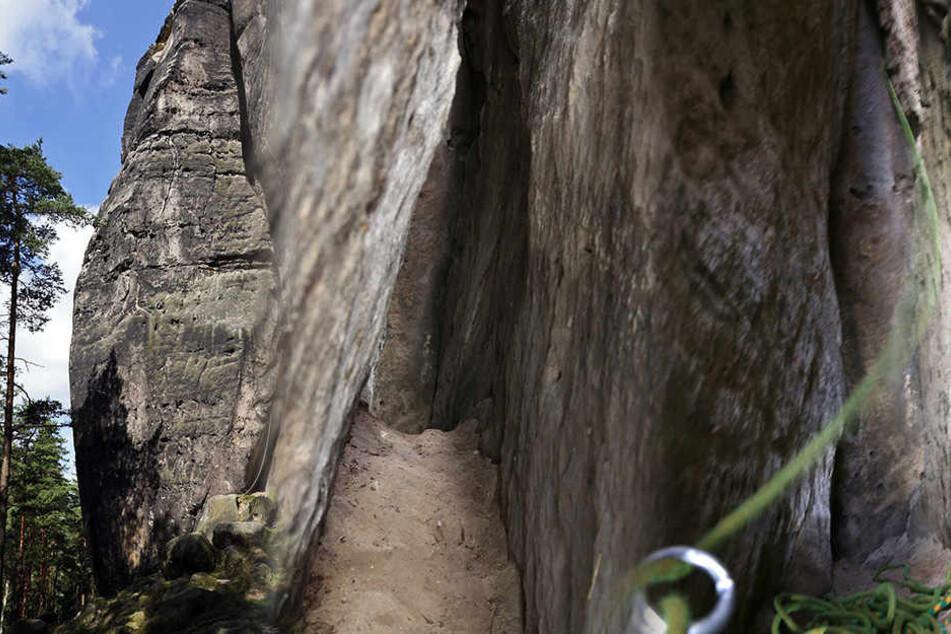 In dieser Spalte (Mitte) wurde der Münzschatz gefunden.
