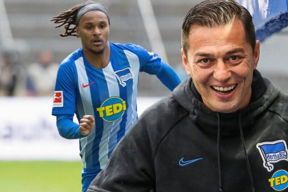 Ex-Herthaner Valentino Lazaro (l) traut Ante Covic (r) bei Hertha BSC die Wende zu.