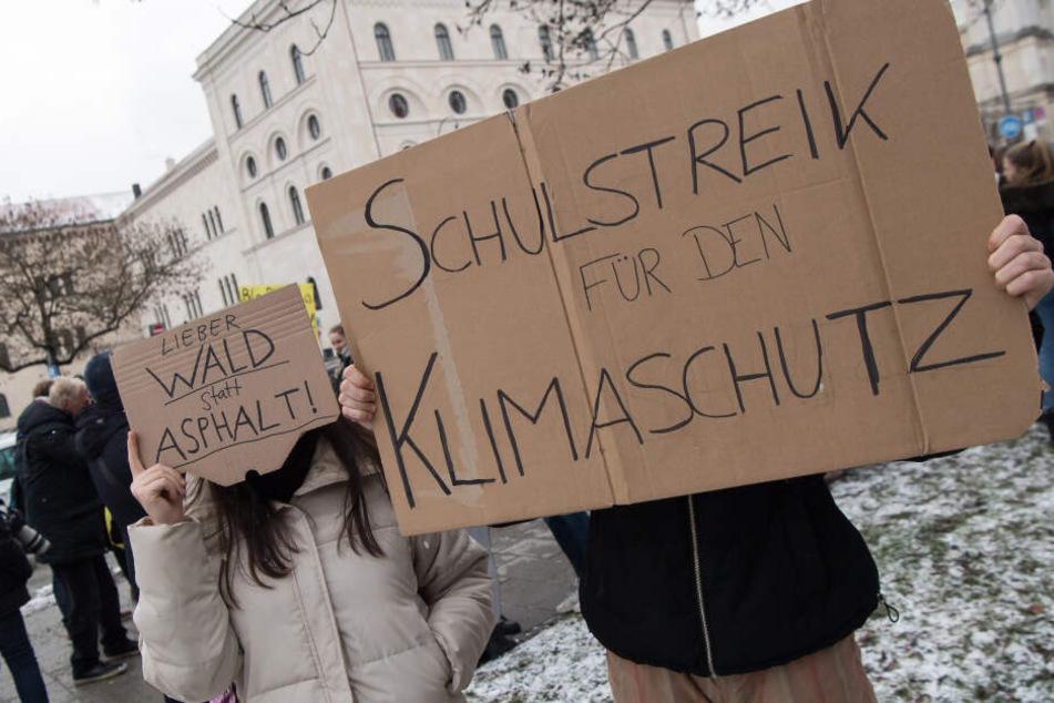 Im Januar demonstrierten bereits Schüler in München für den Klimaschutz.